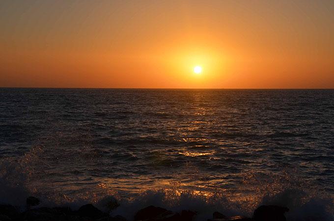 Dubaj zachód słońca