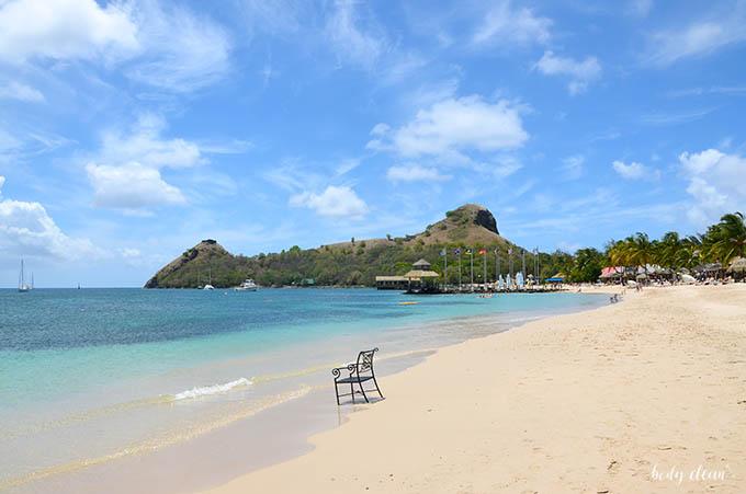 Karaiby St. Lucia Pigeon Island Beach