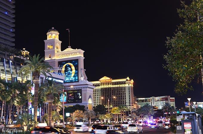 Las Vegas zwiedzanie Bellagio Caesars Palace