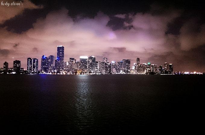 Miami nocą panorama