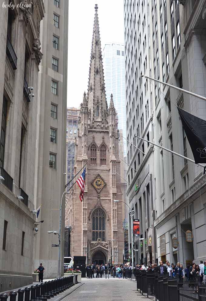 Nowy Jork co warto zobaczyć Trinity Church Kościół Trójcy świętej