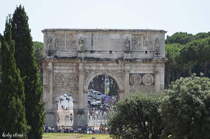 Rzym Koloseum Łuk Konstantyna Wielkiego