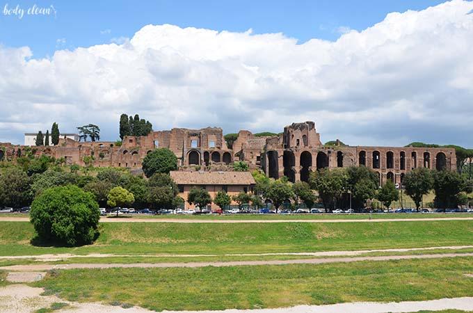 Rzym Palatyn stadion ruiny