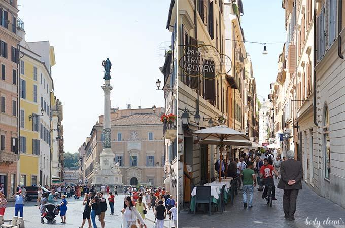 Rzym Piazza di Spagna schody hiszpańskie