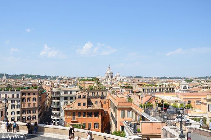 Rzym Schody Hiszpańskie widok