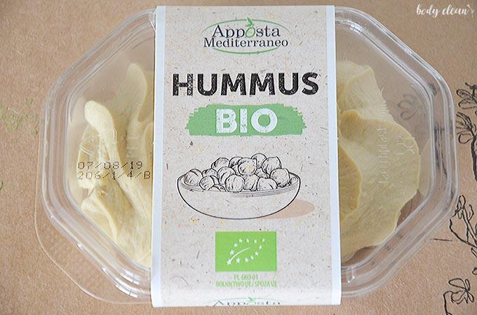 zdrowe przekąski wegańskie bezglutenowe hummus bio